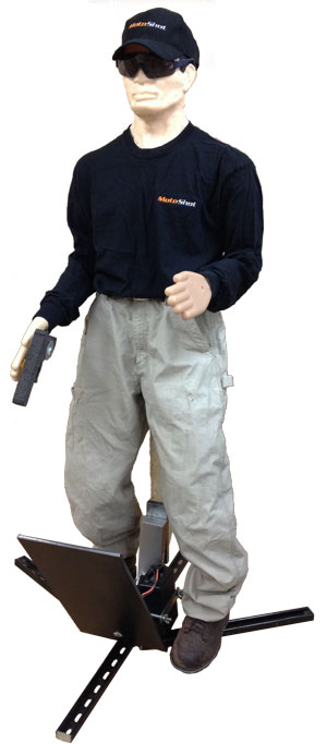 """3D Plastic Target Dropper with """"Use of Force"""" Threat Management Trainer"""