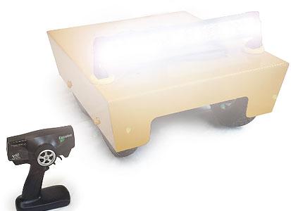LED Light Bar mounted to Elite Moving Target System